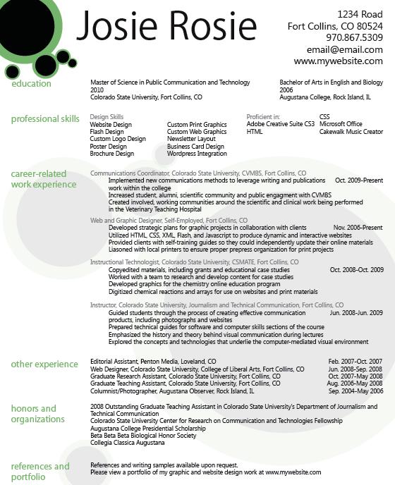 Download Graphic Design Resume Pdf